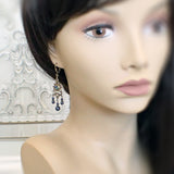 Midnight Blue Chandelier Earrings mannequin view