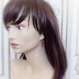 Antique Style Fire Earrings with Swarovski Crystals mannequin view