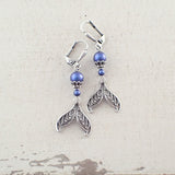 Whimsical Mermaid Tale Earrings with Swarovski Pearls