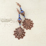 victorian style sea shell earrings