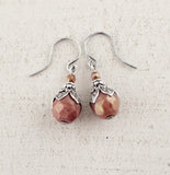 Dusty Rose Dangle Earrings view 2