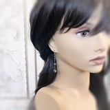 Long Iridescent Antique Style Earrings mannequin view