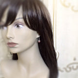 Dusty Rose Dangle Earrings mannequin view