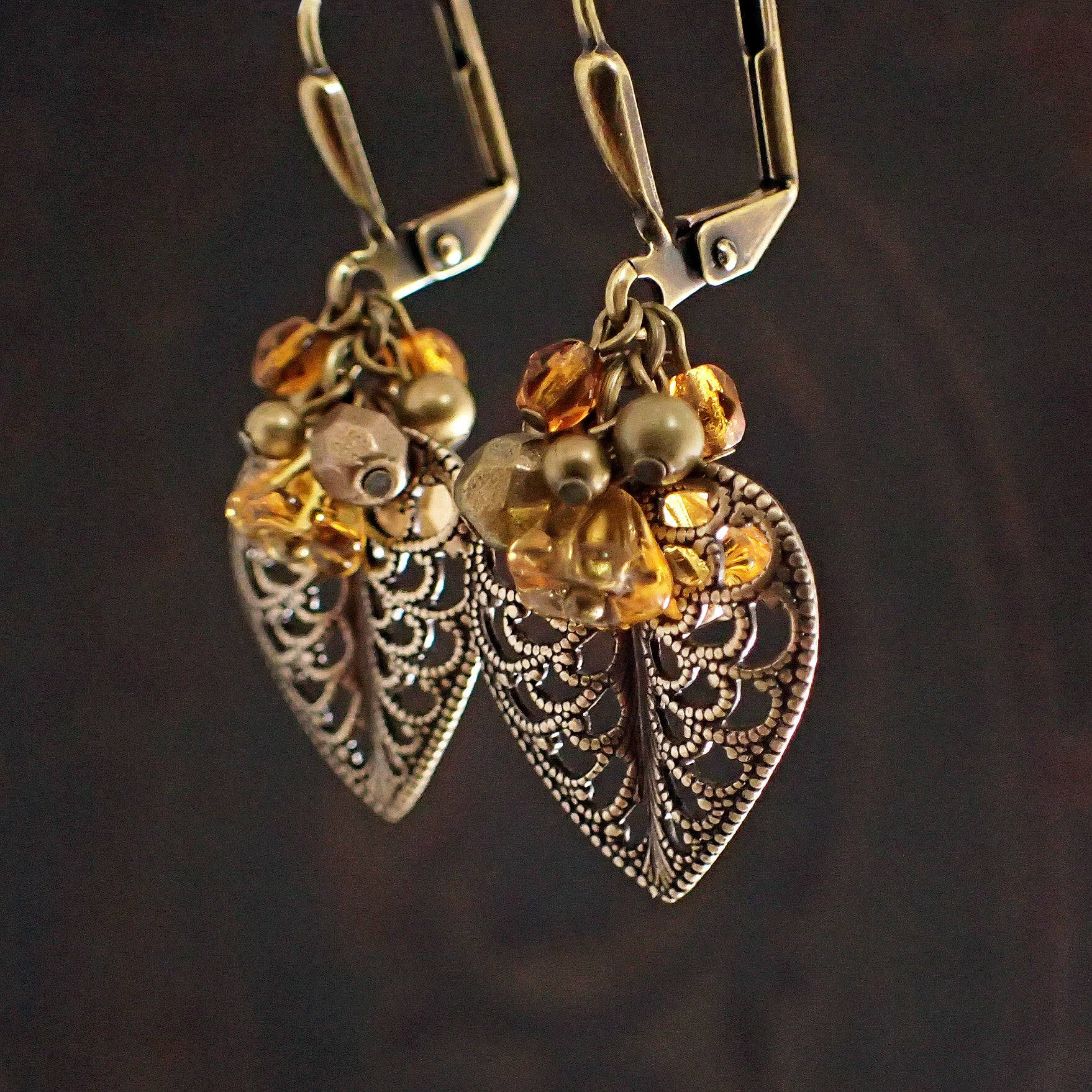 bohemian product everyday filigree modern feminine original earrings paisley gold simple matte