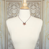 Copper Maple Leaf Necklace mannequin view