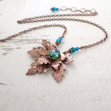 Copper Maple Leaf Necklace main photo