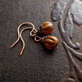 Tiny Harvest Pumpkin Earringsv iew 3