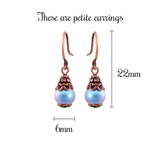 Ethereal Light Blue Swarovski Pearl Earrings