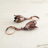 Copper Tulip Earrings