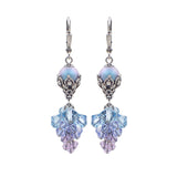 Swarovski Cluster Earrings - Purple Blue Ombre