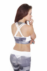 Jess Abstract - Grey Gym Outfit - Jesshd - 2