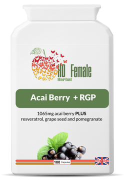 HD Female Herbal - Acai Berry+RGP (Resveratrol, Grape Seed Extract and Pomegranate)