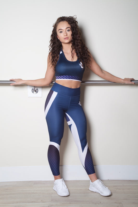 HD Female Navy Gym Outfit