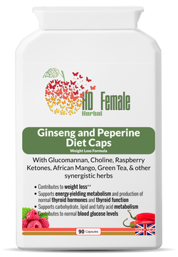 HD Female Herbal - Ginseng and Peperine Diet Caps (Fat Burner)