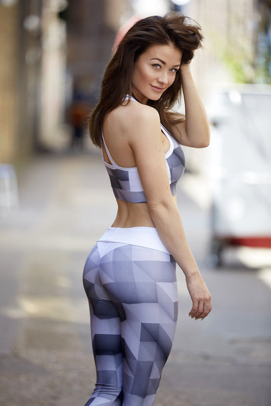 HD Female - Abstract - Grey Gym Outfit
