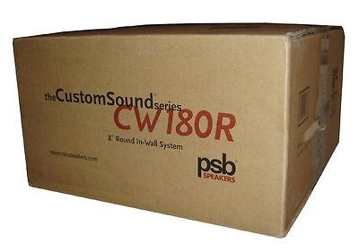 PSB CW-180R 8 inch In wall Loudspeaker Round Grill Each