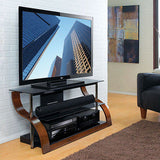"Bell'o CW-343 Curved Wood Audio Video Table for up to 55"" panel {NEW} Bello"