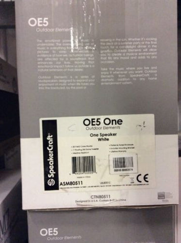 SpeakerCraft OE5 One Main / Stereo Speakers One Pair {BRAND NEW}
