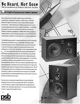 PSB CHS40 CustomSound Series-In Cabinet Each