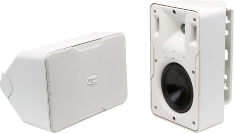 "Klipsch CP-6 White 5-1/4"" Indoor/Outdoor  Surface Mount Speaker Pair B-stock"