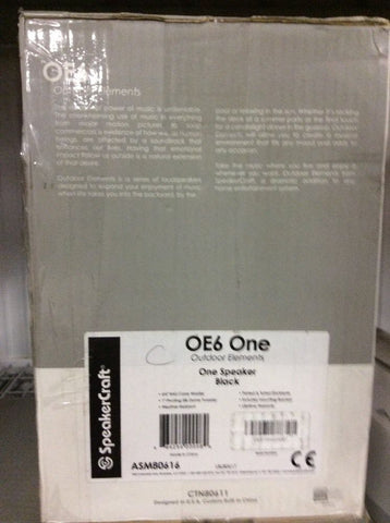 SpeakerCraft OE6 One Main / Stereo Speakers Black Each