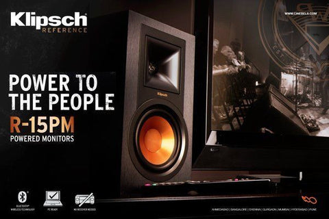 Klipsch R-15PM Powered Speakers with Bluetooth & Turntable input B Stock