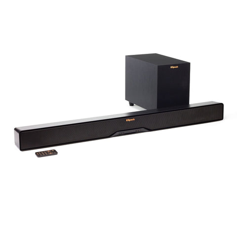 Klipsch R-4B Soundbar and wireless subwoofer W/Built-in Dolby® Digital Decoder! B-stock