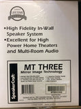 SpeakerCraft MT6 Three MT-IN-Wall Speakers Pair {BRAND NEW}