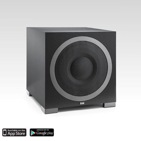 Elac S12 1000 Watt  Powered Subwoofer app controlled!