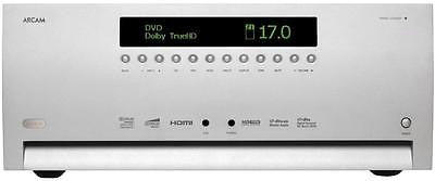 Arcam AVR-600 HDMI 1.4 3D Silver 120 watts x 7 channel Theater Receiver /preamp
