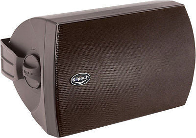 "Klipsch AW-650 6.5"" Two-Way All-Weather Loudspeakers Black Finish Pair B-stock"