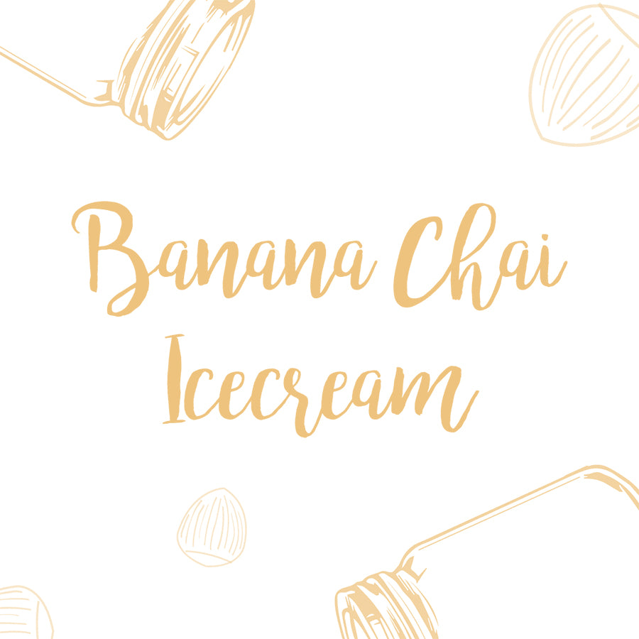 Banana Chai Icecream