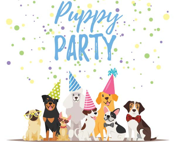 puppy shower party card