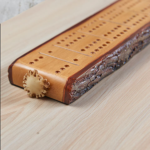 Cribbage Board - Faux Hickory