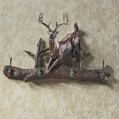 Whitetail Coat Rack - 4 Hook