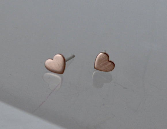 5mm Tiny Gold Filled and Sterling Silver Heart Earrings