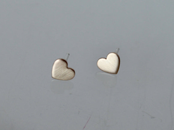Gold Filled Heart Earrings, 6mm Heart Earrings, Stud Earrings, Tiny Stud Earrings, Silver Hear Earrings, Minimal Stud Earrings, Studs, Heart