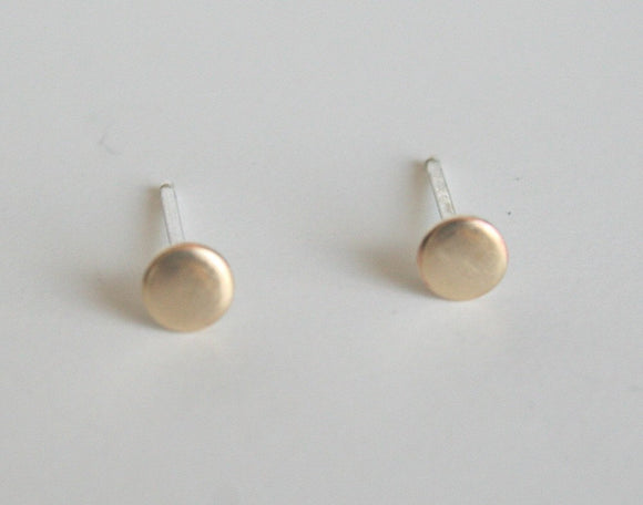 4mm Earrings, Tiny Earrings, Stud Earrings, Small Earrings, Gold Color Earrings, Brass Earrings, Dot Earrings, Minimal Earrings, Modern