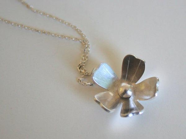Silver Phlox Flower Necklace, Silver Necklace, Flower Jewelry, Bridesmaid Jewelry, Silver Flower, Gift for Her