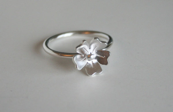 Petite Rose Silver Flower Ring, Silver RIng, 925 Ring, Silver Jewelry, Flower Jewelry, Gift for Her, Metalwork, Handmade Silver Ring