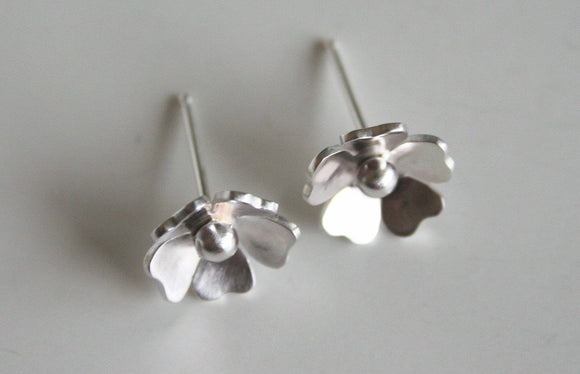 Rose Silver Flower Post Earrings, Silver Earrings, Flower Earrings, Pretty Earrings, Bridal Earrings, Bridesmaid Earrings, Gift For Her