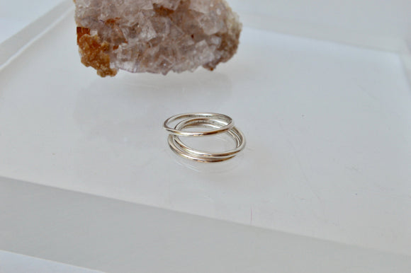 Set of Three Sterling Silver Stacking Rings, Stackable Rings, Silver Ring, Minimal