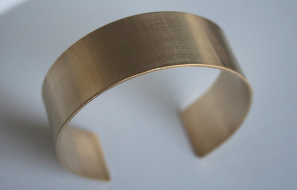 Brass Cuff, Simple Cuff, Minimal Cuff Bracelet, Thick Metal Cuff, Modern Cuff, Gold Color Cuff Bracelet, Minimal Jewelry, Brushed Finish