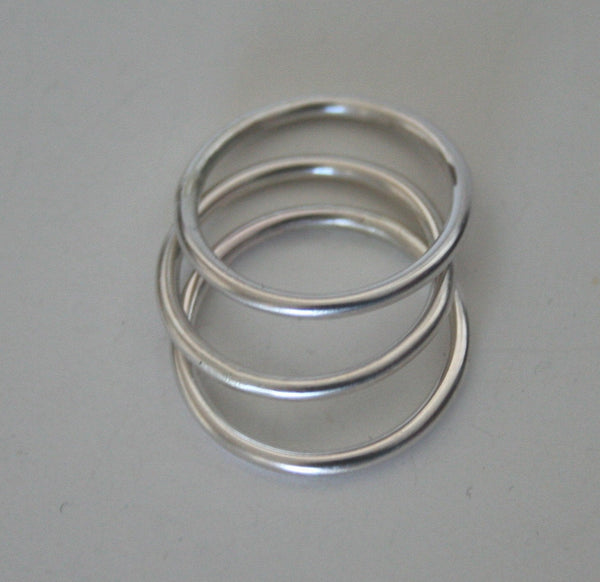 Three Silver Rings, Set of Three, Stacking RIngs, Three Stacking Rings, Simple Rings, Silver RIngs, Minimal Rings