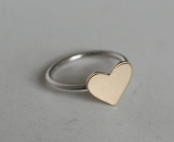 Brass Heart Ring, Heart Ring, Heart Jewelry, Minimal Heart Ring, Gold Heart Ring,Valentines Ring, Silver Ring, Valentines Gift for Her, 925