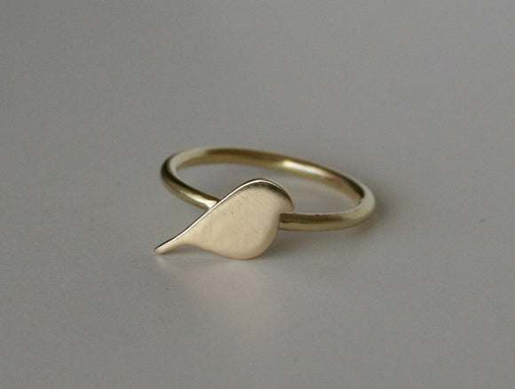 Brass Bird Ring, Gold Bird Ring, Gold Color Ring, Bird RIng, Bird Jewelry, Bird Silhouette, Silhouette RIng, Modern Ring, Modern Jewelry