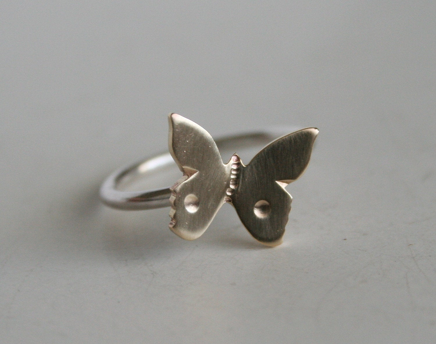 Flying Butterfly Ring, Butterfly Jewelry, Brass Jewelry, Silver Ring, Cute Ring, Girls Ring, Gift For Her, Gold Color Butterfly, 925