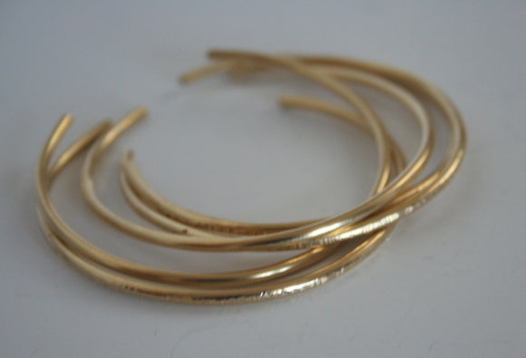 Set of Five Brass Stacking Cuff Bracelets, Bangle Set, Gold Bracelets, Hammered Cuffs, Hammered Bracelets, Minimal cuffs, Set of Cuffs