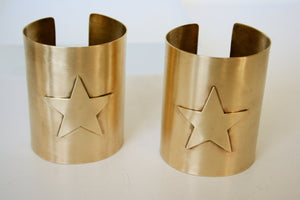 Wonder Woman Cuff Bracelet Set , Star Cuff Bracelet, Wonder Woman Jewelry, Super Hero Cuffs, Cuff Set, Gold Cuff Bracelet, Metal Cuffs