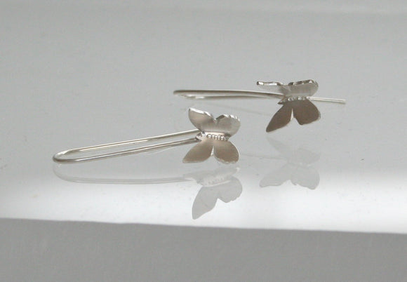 Flying Biutterflys Earrings, Silver Butterfly Earrings, Dangle Earrings, Silver Earrings, Butterfly Earrings, Butterfly Jewelry, Sterling